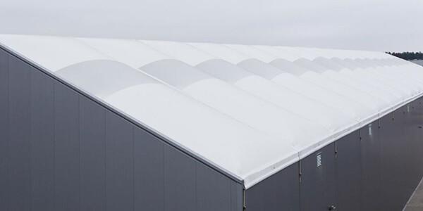 dach hali namiotowej