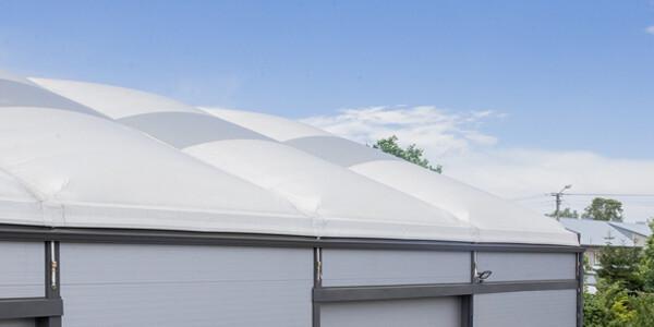 dach pneumatyczny hali izolowanej