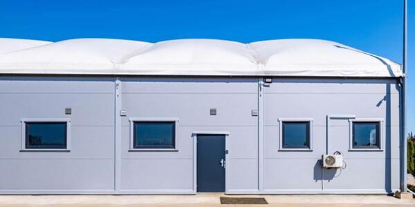 dach pneumatyczny izolujący wnętrze