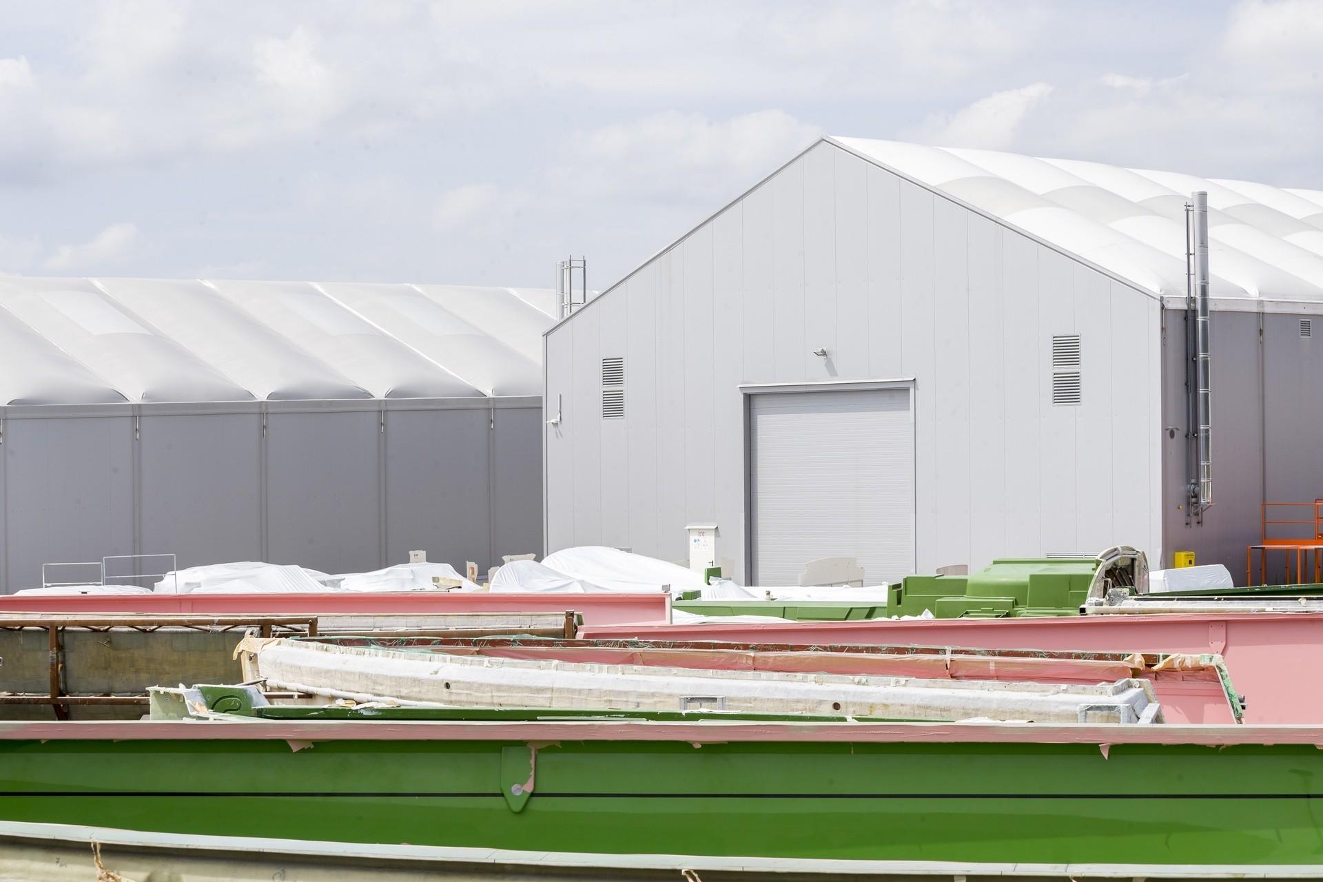 Hala namiotowa przemysłowa w miejscowości Goleniów