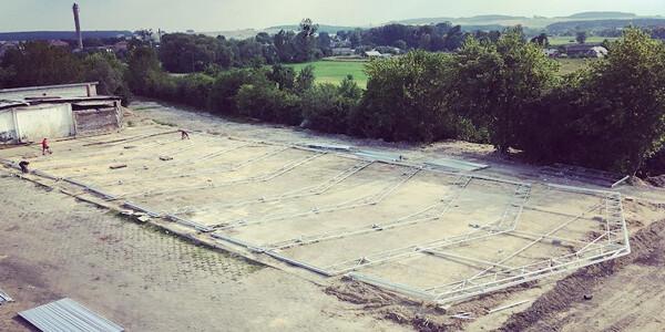 teren pod budowę hali namiotowej